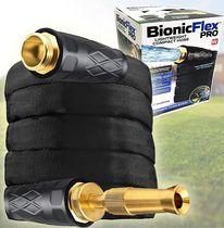 Bionic Flex Pro Tuyau d'arrosage de 50 pi, Tuyau d'arrosage de jardin résistant aux intempéries et résistant aux intempéries avec raccords en laiton et buse de pulvérisation et de tir réglable en laiton, 500 PSI résistant aux déchirures, tuyau sans pli