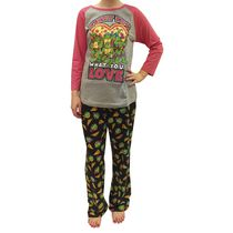 Teenage Mutant Ninja Turtles Ladies' Charming License Pyjama Set XXL