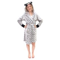 George Ladies' Hooded Character Robe Silver S/M