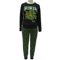Teenage Mutant Ninja Turtles Ladies' License Reversable 2 piece Pyjama Set L