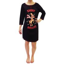 Rudolph the Red Nosed Reindeer Ladies' knit 3/4 Sleeve Nighshirt M