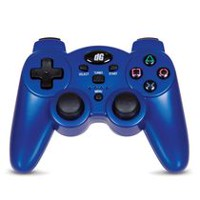 dreamGEAR Radium Metallic Blue Wireless Controller for PS3