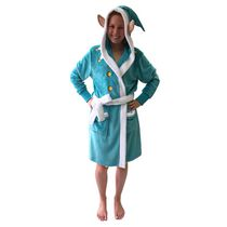 George Ladies' Hooded Charcter Robe Teal L/XL