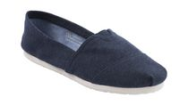 George Women's Canvas Slip-on Shoes Navy 10