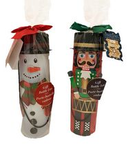 Regal Confections Nutcracker & Snowman Gift Bottle Tote