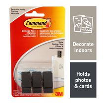 Command™ Slate Spring Clip 17089S-C, Small