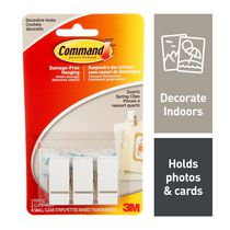 Command™ Quartz Spring Clips 17089Q-C, Small