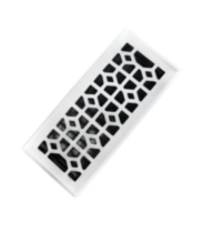 3x10 Designer Abstract White Floor Register