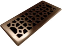 4x10 Designer abstract bronze floor register