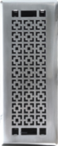 4x10 Designer brushed nickel mosaic mantle floor register