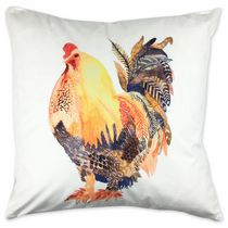 Homeport Rufus Rooster Throw Cushion