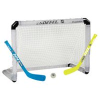 Franklin Sports Light-Up Mini Hockey Goal, Stick and Ball Set