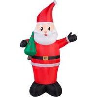 Airblown Self-Inflatable Santa Holding Tree