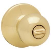 Weiser Ball Knob Privacy Polished Brass