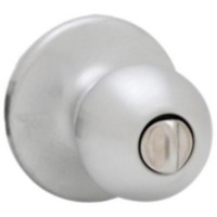 Weiser Ball Knob Privacy Satin Chrome