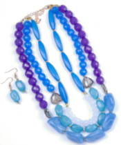 Bead and crystal neckset