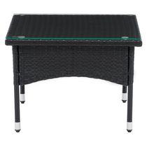 CorLiving Parksville Black Rattan Side Table