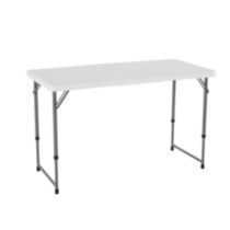 Lifetime 4-Foot Light Commercial Fold-In-Half Adjustable Table