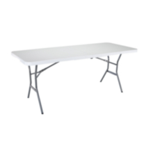Lifetime 6-Foot Light Commercial Fold-In-Half Table