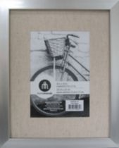 "Gallery Metal with Linen Mat 8 x 10"" to 5 x 7"" Silver"