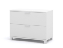 Bestar Pro-Linea Assembled Lateral File in White