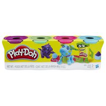 Ensemble de 4 pots Play-Doh de couleurs vives