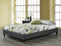 Single Platform Bed Frame, Grey