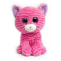 "Kids 0-9 9"" Colorful Big Eye Pink Cat Plush Toy"