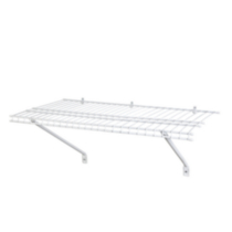 "2' x 12"" SuperSlide Prepack Shelf  - White (60,96cm x 30,48cm)"