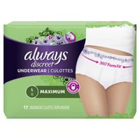 Always Discreet, Incontinence Underwear, Maximum Absorbency, Large