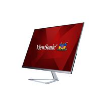 """ViewSonic 32"""" 1080p Frameless Widescreen IPS Monitor with Screen Split Capability HDMI and DisplayPort, 1920x1080, Silver, VX3276-MHD"""