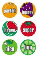 Poster Pals French Mini Fruit Stickers