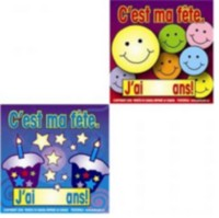 French Birthday Stickers