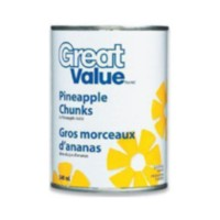 Great Value Pineapple Chunks in Pineapple Juice