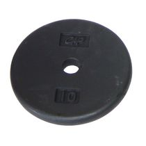 CAP Barbell 1-Inch Cast Iron Weight Plate, Black, Single, 10 Lbs