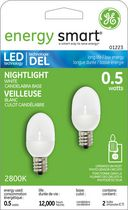 Ampoule de veilleuse à DEL energy smartMD de General Electric 0,5 W - paquet de 2