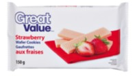 Great Value Strawberry Wafer Cookies