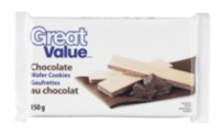 Biscuits gaufrettes au chocolat de Great Value