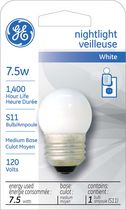 General Electric 7.5 Watts Nightlight Soft White Light Bulb