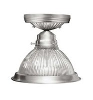 Home Basics 1-Light Plantinize Semi-Flush Mount