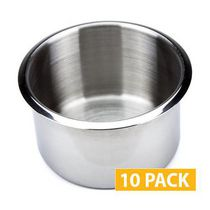 10 PACK JUMBO STAINLESS STEEL  CUP HOLDERS