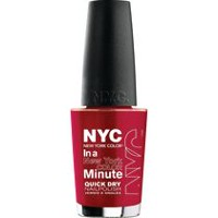 NYC New York Color In A New York Minute Nail Color Columbus Circle Crimson