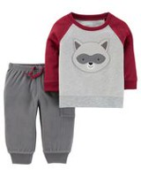Child of Mine made by Carter's Newborn Boys 2pc clothing set -Racoon 24M