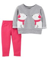 Child of Mine made by Carter's Newborn Girls' 2pc Clothing Set -Fox 18M