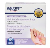 Equate Regular Strength Nail Polish Remover Pads
