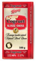 Kingsey Cogruet Swiss 27% M.F Natural Sliced Cheese
