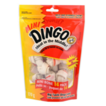 Dingo Mini Rawhide Chew Bone 14ct