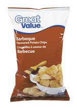 Great Value Barbeque Flavoured Potato Chips
