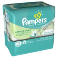Pampers Lingettes Natural Clean - 192 lingettes