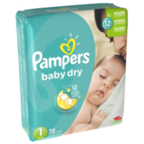 Pampers Baby Dry Diapers Mega Pack Size 1